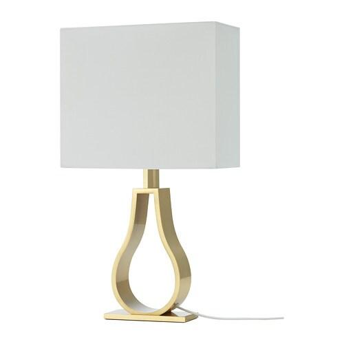 KLABB 클라브 탁상스탠드 IKEA 텍스타일 전등갓은 불빛이 은은하게 퍼지고 부드럽고 안락한 분위기를 연출합니다.