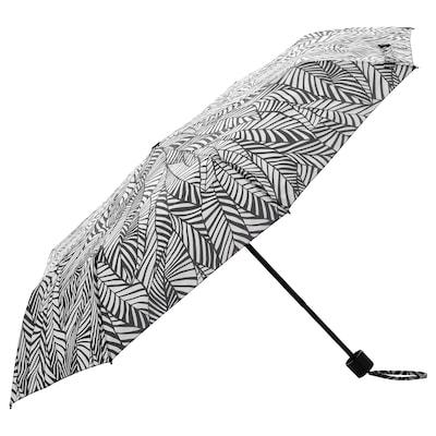 KNALLA 크날라 우산, 접이식 화이트/블랙