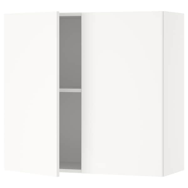 KNOXHULT 크녹스훌트 벽수납장+도어, 화이트, 80x75 cm