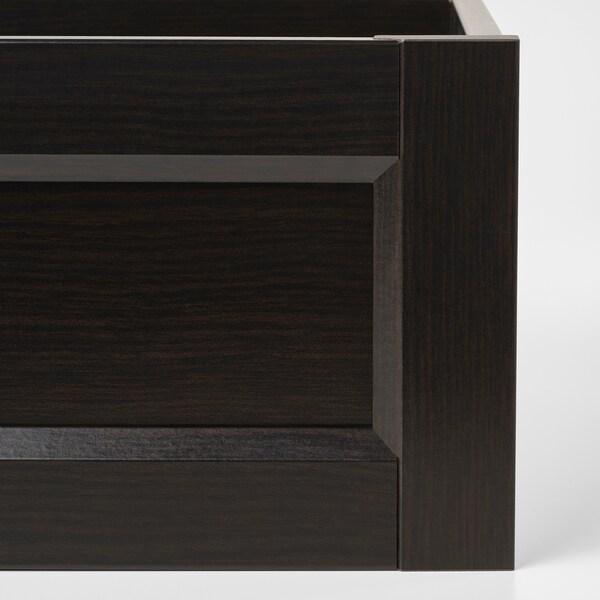 콤플레멘트 서랍+프레임앞판 블랙브라운 100 cm 58 cm 92.8 cm 56.9 cm 16.0 cm 90.1 cm 53.3 cm