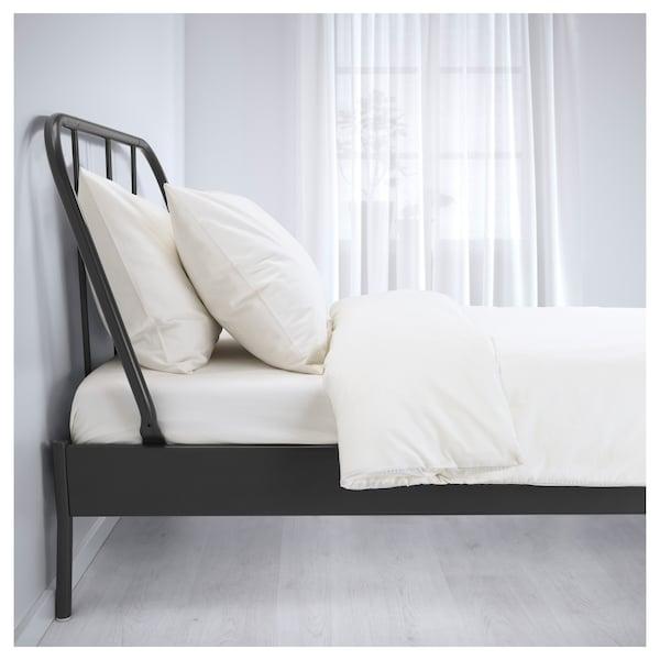 KOPARDAL 코파르달 침대프레임, 그레이/루뢰위, 120x200 cm