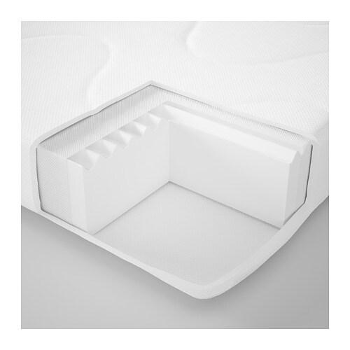 KRUMMELUR 크룸멜루르 아기 침대용 폼 매트리스 IKEA 외부 커버는 벗겨서 60°C의 온도에서 물세탁할 수 있습니다.