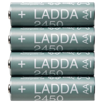 LADDA 라다 충전지, HR06 AA 1.2V, 2450mAh