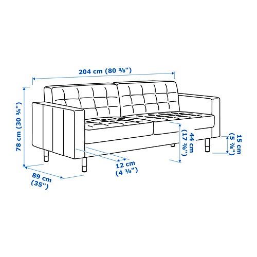 LANDSKRONA 란스크로나 3인용소파 IKEA