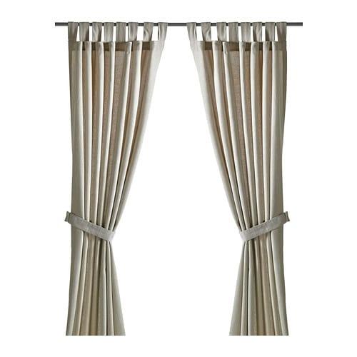 LENDA 커튼한쌍+장식띠 - IKEA