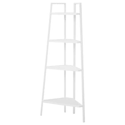 LERBERG 레르베리 코너선반유닛, 화이트, 45x148 cm