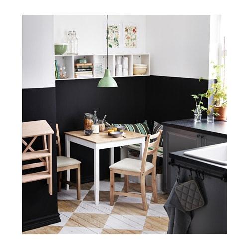 LERHAMN 레르함 의자 IKEA 의자 프레임은 원목소재를 사용하여 내구성이 뛰어납니다. 소나무 원목소재로 시간이 흐를수록 멋스러워지고 개성이 느껴집니다. 커버는 물세탁이 가능합니다.