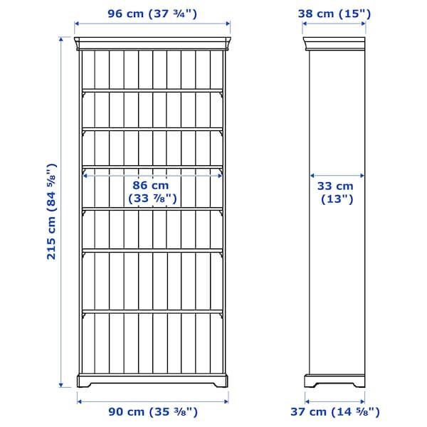 LIATORP 리아토르프 책장, 화이트, 96x215 cm