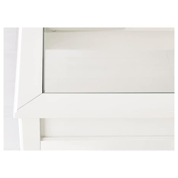 LIATORP 리아토르프 보조테이블, 화이트/유리, 57x40 cm