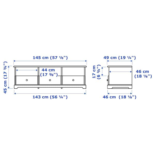 LIATORP 리아토르프 TV장식장, 화이트, 145x49x45 cm