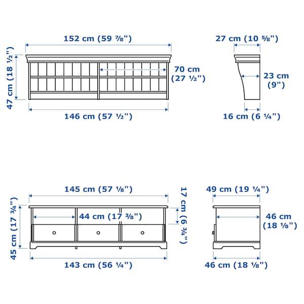 LIATORP 리아토르프 TV수납콤비네이션, 화이트, 145x49 cm