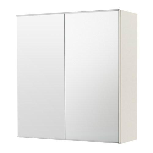 LILLÅNGEN 릴롱엔 양문형 거울수납장 IKEA 거울 뒷면에 안전필름을 부착하여 떨어져서 깨져도 심각한 부상이 발생하지 않도록 신경을 썼습니다.