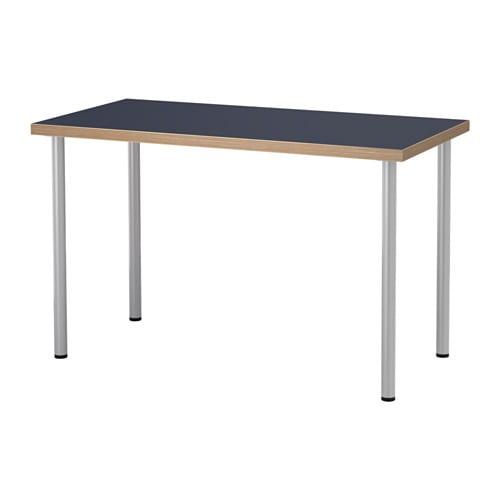 LINNMON / ADILS 테이블 - 블루/실버 - IKEA