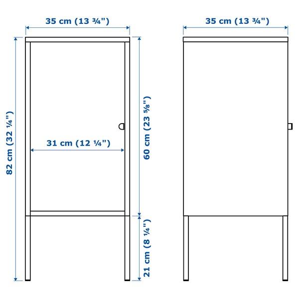 LIXHULT 릭스훌트 수납장, 메탈/레드, 35x60 cm