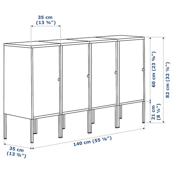 LIXHULT 릭스훌트 수납콤비네이션, 앤트러싸이트, 140x35x82 cm