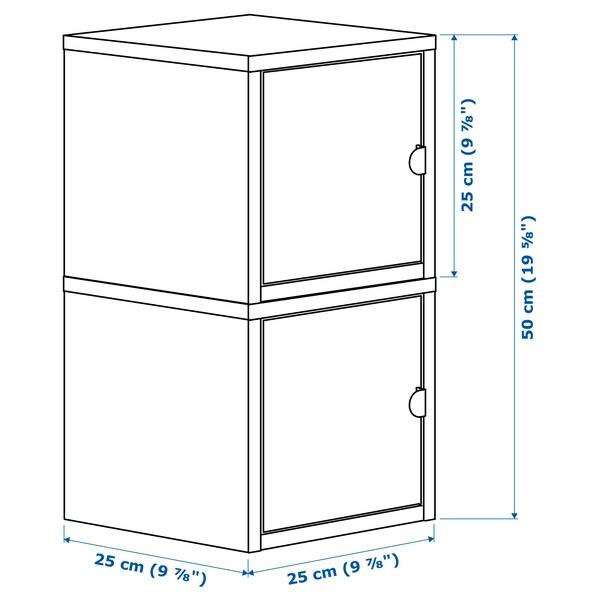 LIXHULT 릭스훌트 수납콤비네이션, 화이트/화이트, 25x25x50 cm