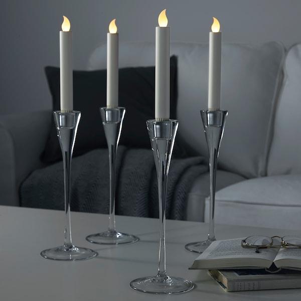 LJUSANDE 유산데 LED촛불, 배터리식/내추럴, 20 cm