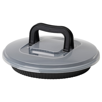 로크베테 파이접시+뚜껑 블랙 31 cm 7 cm