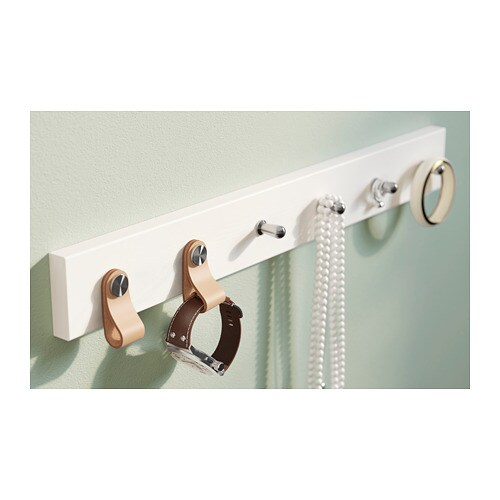 LURT 루르트 6칸후크 IKEA 원하는 손잡이를 선택해 걸이를 디자인해볼 수 있습니다. 모든 IKEA 주방용 손잡이와 함께 사용할 수 있어요. 고정장치가 숨겨져 있기 때문에, 나사가 보이지 않습니다.