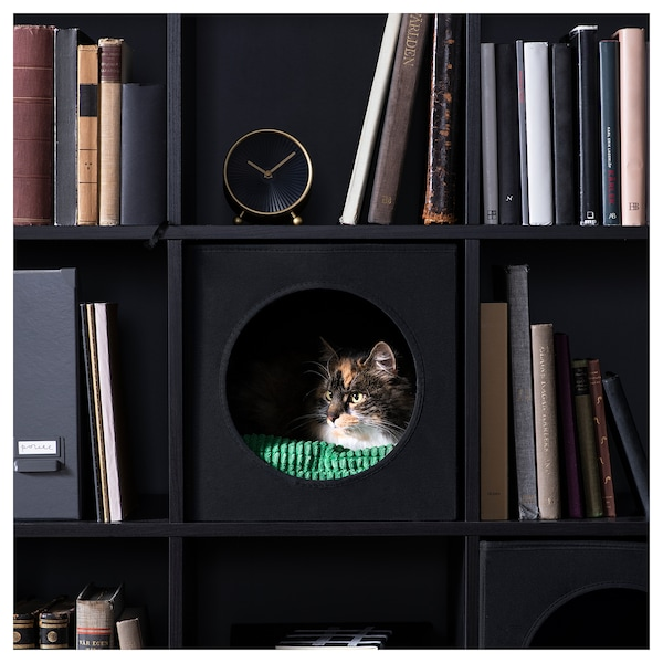 LURVIG 루르비그 고양이집, 블랙, 33x38x33 cm