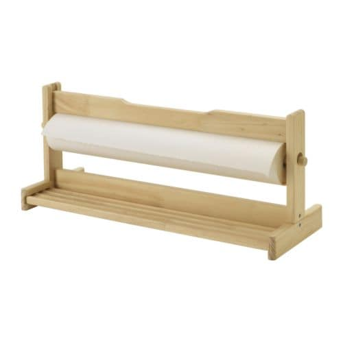 MÅLA 몰라 화구보관대 IKEA 롤도화지와 펜, 물감 등을 수납하는 홀더입니다. 평평한 바닥에 놓으세요. 도화지를 쉽게 찢을 수 있도록 가장자리가 날카로운 막대가 달려 있습니다.