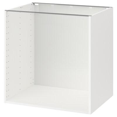 METOD 메토드 하부장프레임, 화이트, 80x60x80 cm