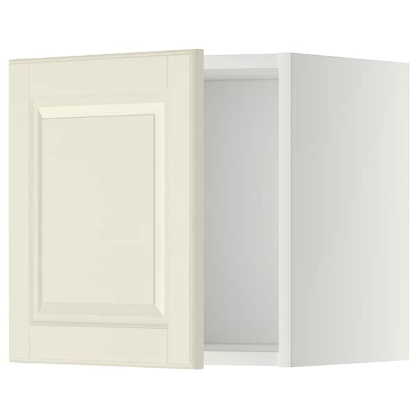 METOD 메토드 벽수납장, 화이트/보드뷘 오프화이트, 40x37x40 cm