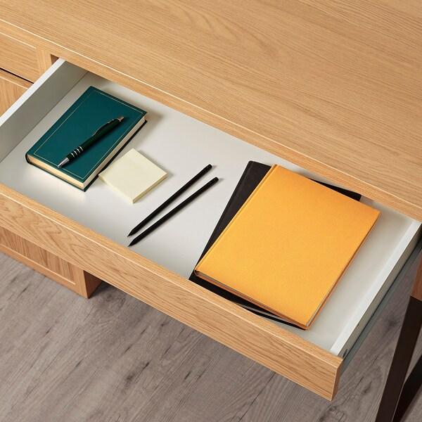 MICKE 미케 책상, 참나무무늬, 105x50 cm
