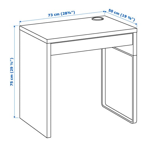MICKE 미케 책상 IKEA 뒷쪽에 전선인출구가 있어서 콘센트와 전선을 보이지 않게 정리할 수 있습니다. 다리는 좌우 어디에든 설치할 수 있습니다. 서랍에 스톱 기능이 있어서 안전하게 열 수 있습니다. 뒷면을 마감처리하여 어디에나 놓을 수 있습니다.