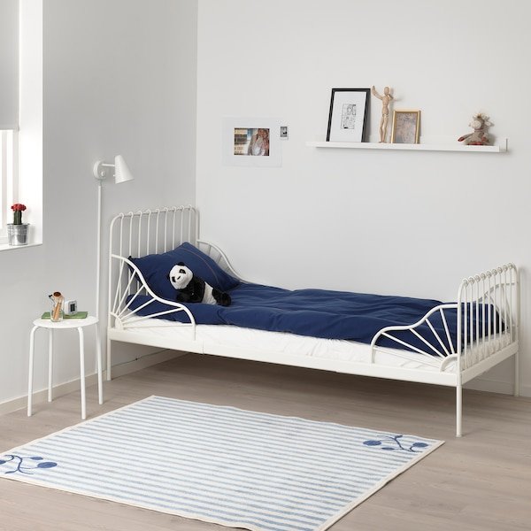 MINNEN 민넨 길이조절침대, 화이트, 80x200 cm