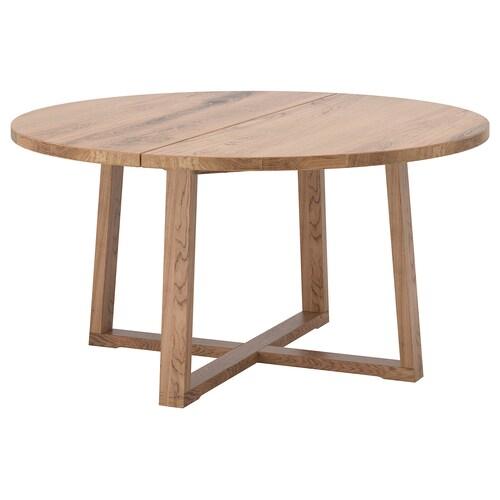 뫼르뷜롱아 테이블 참나무무늬목 브라운스테인 75 cm 145 cm