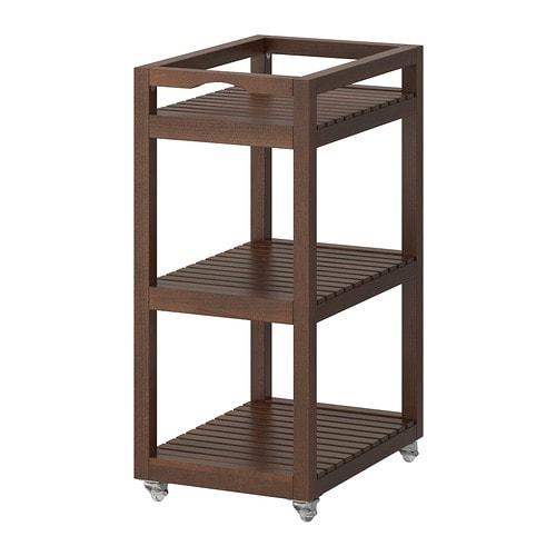 MOLGER 카트 - 다크브라운 - IKEA