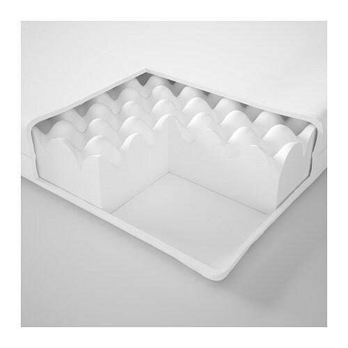 MOSHULT 모스훌트 폼매트리스 IKEA 탄성폼 매트리스가 몸 전체를 편안하게 받쳐줍니다. 커버를 물세탁할 수 있어서 위생적입니다.