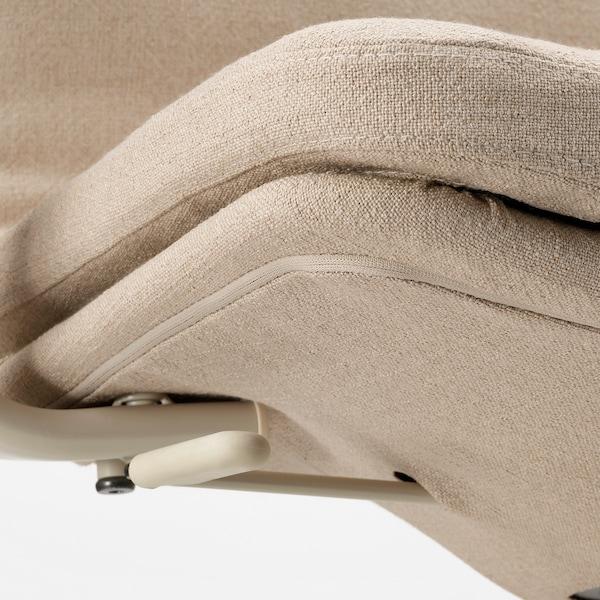 MULLFJÄLLET 물피엘레트 회의의자+바퀴, 나겐 베이지