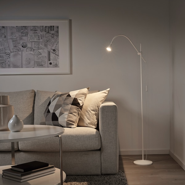NÄVLINGE 네블링에 LED플로어스탠드/독서등, 화이트