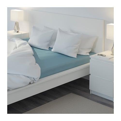 NATTJASMIN 나티아스민 매트리스커버 IKEA 면/리오셀 소재의 새틴 침구는 부드럽고 쾌적하며 고급스러운 광택으로 침대를 더욱 멋스럽게 꾸며줍니다. 면/리오셀 혼방제품으로 체내에서 배출되는 수분을 흡수하며 밤새 보송보송한 상태를 유지합니다.