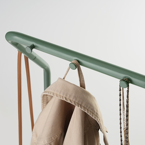 NIKKEBY 니케뷔 옷걸이행거 IKEA 조립 나사는 가방, 스카프, 재킷 등의 추가 물품을 걸어둘 수 있는 후크 기능도 합니다.