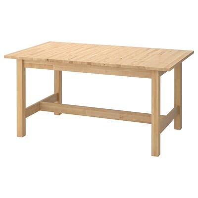 노르덴 확장형테이블, 자작나무, 155/210x90 cm