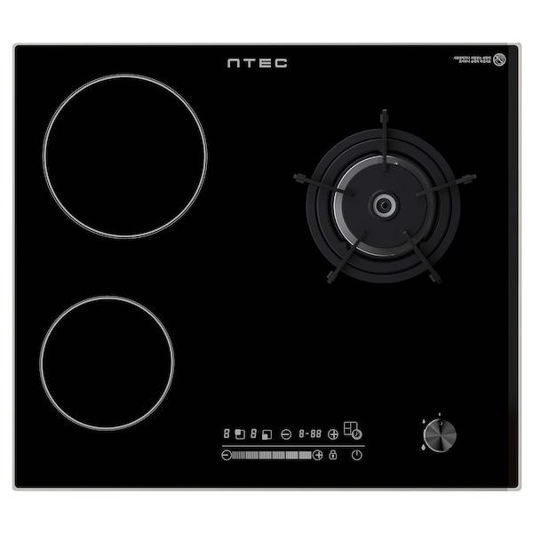ÖVERRASKAD IKGH-M300B 외베라스카드 LNG 가스/하이라이트 레인지, 블랙, 59 cm