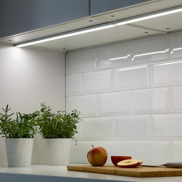 OMLOPP 옴로프 LED조리대 조명, 알루미늄, 60 cm