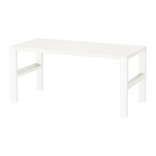 PÅHL 폴 책상 IKEA 책상의 높이가 3단계로 조절되기 때문에 아이의 성장에 맞춰 사용할 수 있어요. 다리의 레버를 이용하여 책상 높이를 59, 66, 72cm로 쉽게 조절할 수 있습니다. 앞뒤 다리 사이에 있는 전선홀더로 전선과 멀티탭 등을 정리하세요.
