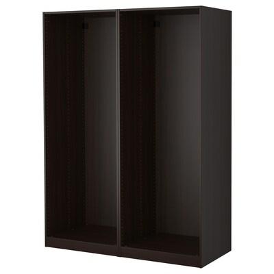 PAX 팍스 옷장프레임2, 블랙브라운, 150x58x201 cm