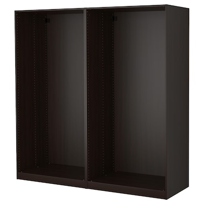 PAX 팍스 옷장프레임2, 블랙브라운, 200x58x201 cm