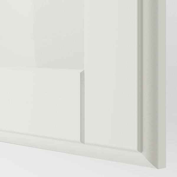 PAX 팍스 옷장, 화이트/튀세달 유리, 200x60x201 cm