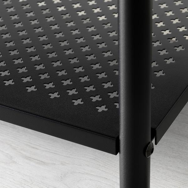 PINNIG 핀니그 신발 수납형 벤치, 블랙, 79 cm