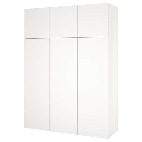 PLATSA 플랏사 옷장, 화이트/폰네스 화이트, 180x57x241 cm