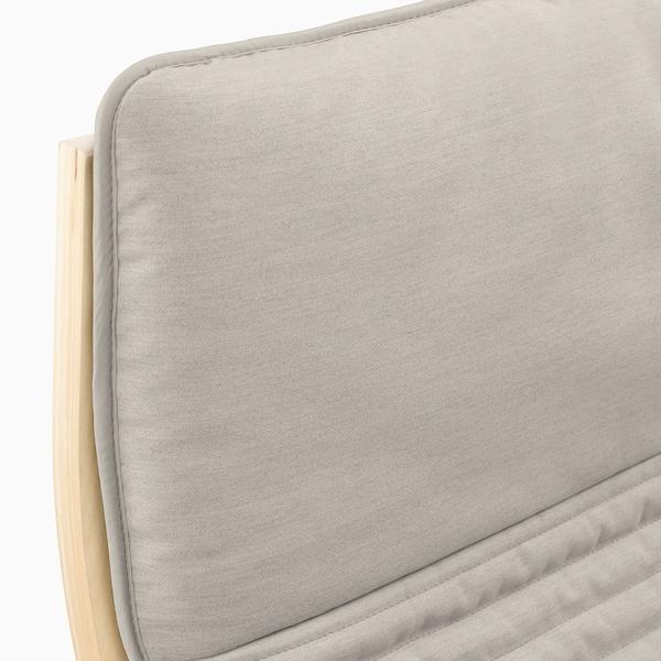 POÄNG 포엥 암체어, 자작나무무늬목/크니사 라이트베이지