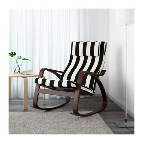 POÄNG 포엥 흔들의자 IKEA 커버를 벗겨서 드라이클리닝할 수 있습니다. 참나무를 겹겹이 붙여서 구부린 제품으로 탄성이 좋고 편안합니다. 높은 등받이가 목을 편안하게 받쳐줍니다. 10년 품질보증. 자세한 내용은 품질보증 브로슈어를 참조하세요.