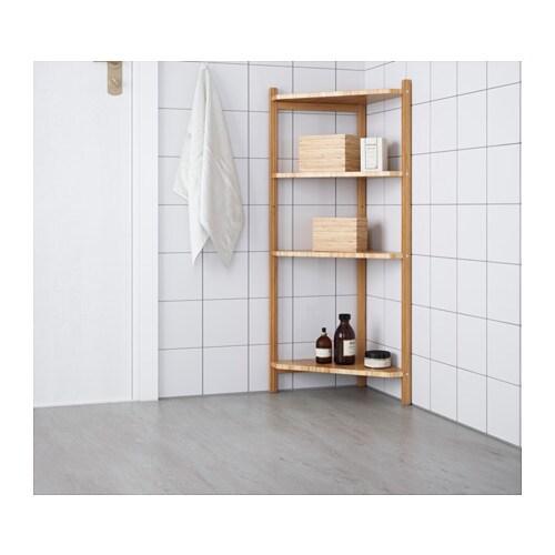 RÅGRUND 로그룬드 코너선반유닛 IKEA 대나무는 내구성이 좋은 천연 소재입니다.