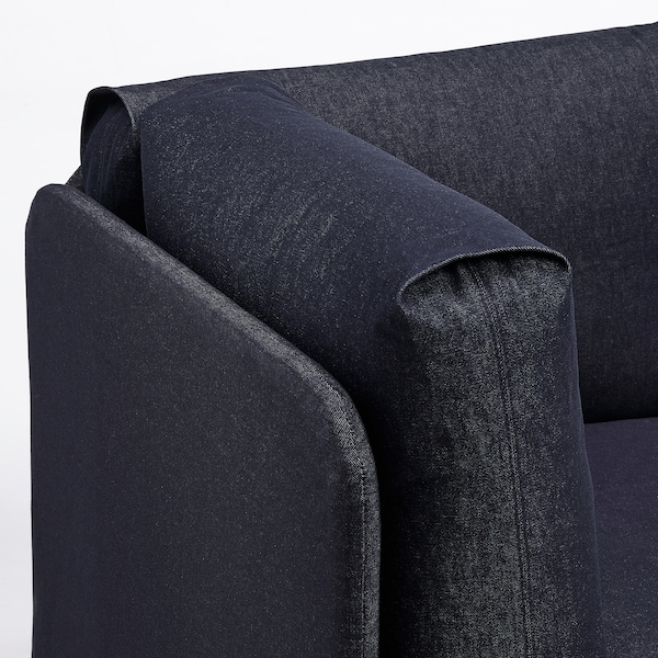 RÅVAROR 로바로르 데이베드+매트리스2, 다크블루/모스훌트 단단함, 90x200 cm